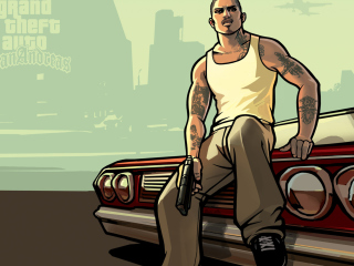 Gta San Andreas wallpaper 320x240