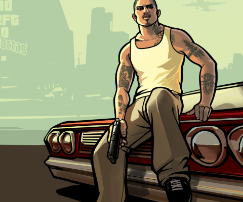 Gta San Andreas wallpaper 480x400