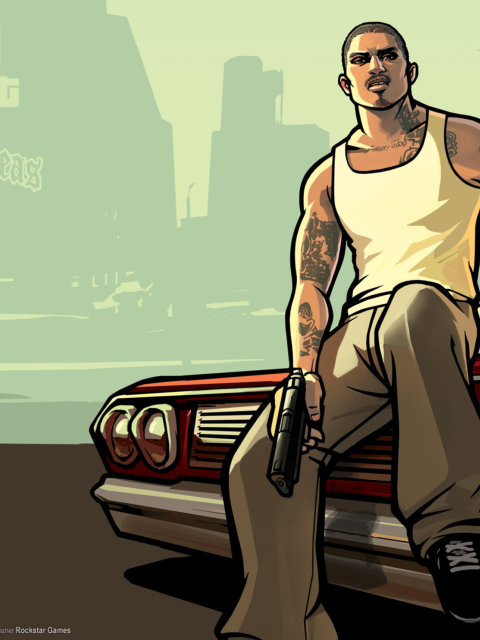 Gta San Andreas wallpaper 480x640
