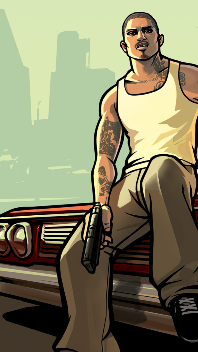 Gta San Andreas wallpaper 640x1136