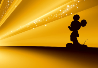 Mickey Mouse Disney Gold Wallpaper - Obrázkek zdarma