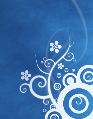 White Blue Abstraction Wallpaper for Nokia Lumia 1020