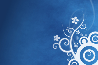 White Blue Abstraction Background for Nokia Asha 200