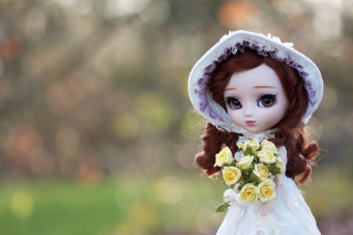 Romantic Doll Background for Android, iPhone and iPad