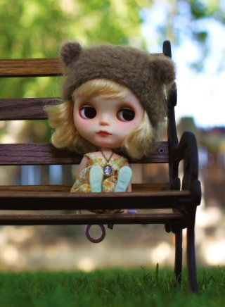 Doll Sitting On Bench Picture for 768x1280