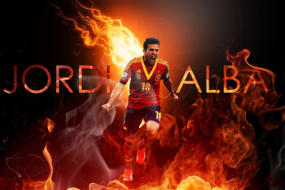 Jordi Alba Background for Samsung Galaxy Note 2 N7100