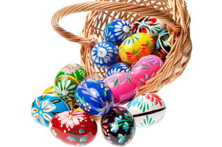 Easter Eggs Background for Android, iPhone and iPad