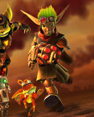 Jak and Daxter - Ratchet and Clank Background for Nokia 5233