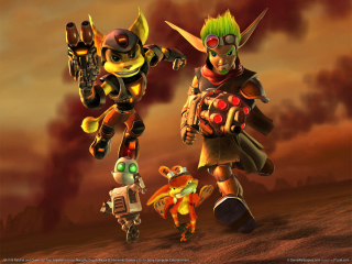 Картинка Jak and Daxter - Ratchet and Clank для Nokia X5-01