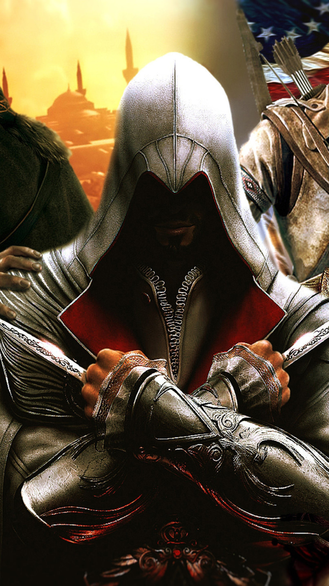 Screenshot №1 pro téma Assassins Creed Altair Ezio Connor 1080x1920