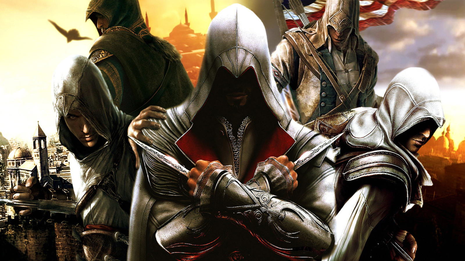 Assassins Creed Altair Ezio Connor screenshot #1 1600x900