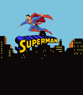 Superman Cartoon Picture for 240x320