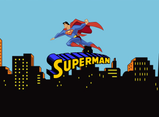 Kostenloses Superman Cartoon Wallpaper für Android, iPhone und iPad