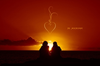 Sunset And Couples Wallpaper for Android, iPhone and iPad