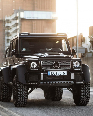 Free Mercedes Benz G63 AMG 6x6 Devil Pickup Picture for Nokia Asha 311