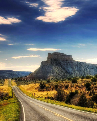 Landscape with great Rock - Fondos de pantalla gratis para 320x480