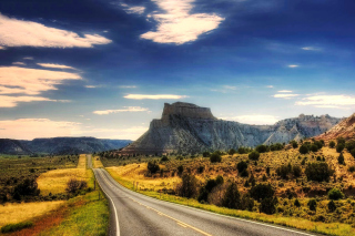 Landscape with great Rock Wallpaper for Android 480x800