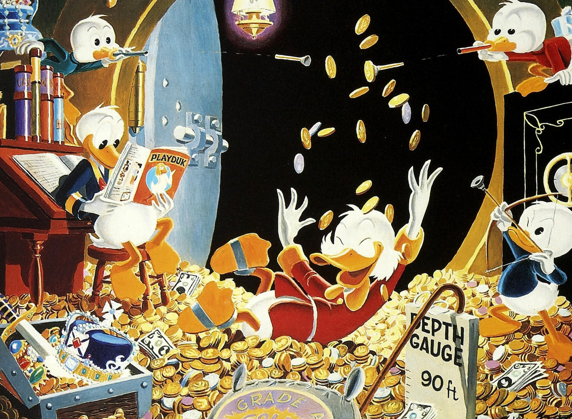 Sfondi DuckTales and Scrooge McDuck Money 1920x1408