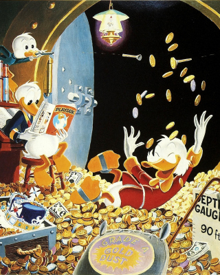 DuckTales and Scrooge McDuck Money papel de parede para celular para iPhone 4S