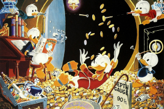 DuckTales and Scrooge McDuck Money papel de parede para celular para Nokia Asha 201