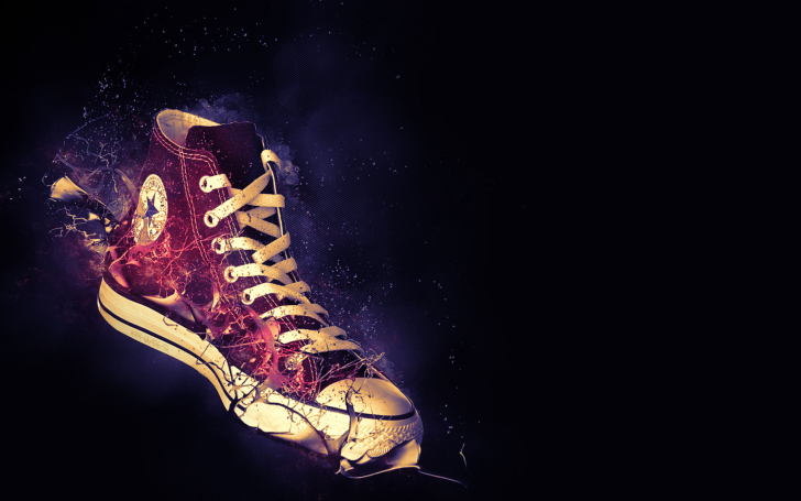 Red Converse wallpaper