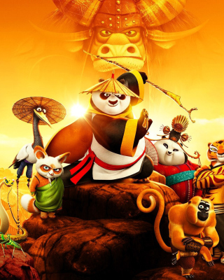 Kung Fu Panda 3 3D Background for iPhone 6 Plus