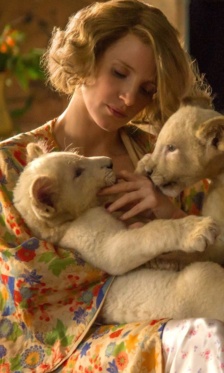 The Zookeepers Wife Film with Jessica Chastain wallpaper 768x1280
