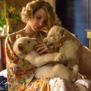 The Zookeepers Wife Film with Jessica Chastain papel de parede para celular para iPad mini 2