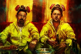 Kostenloses Breaking Bad with Walter White Wallpaper für 800x480