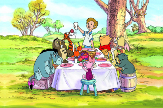 Winnie the Pooh Dinner Wallpaper for Android, iPhone and iPad