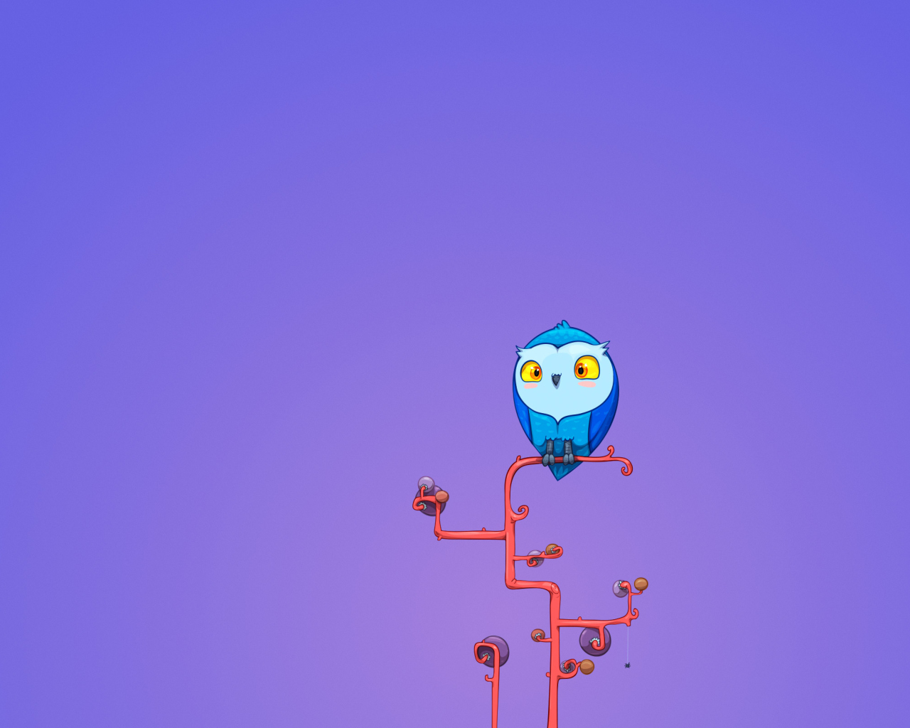 Das Cute Blue Owl Wallpaper 1280x1024