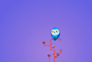 Cute Blue Owl Wallpaper for Android, iPhone and iPad
