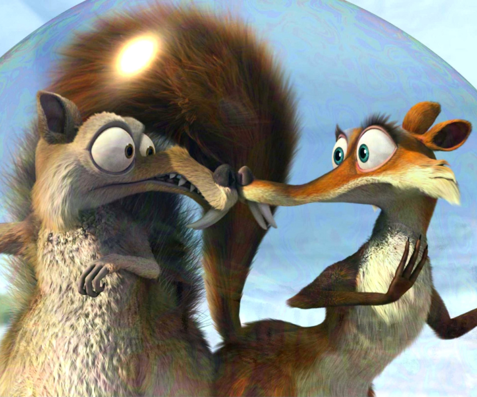 Screenshot №1 pro téma Ice Age Dawn of the Dinosaur Scrat And Scratte 960x800