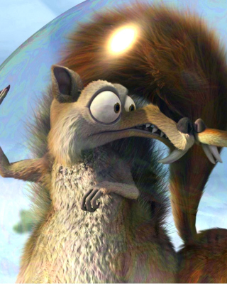 Ice Age Dawn of the Dinosaur Scrat And Scratte papel de parede para celular para Nokia Lumia 800