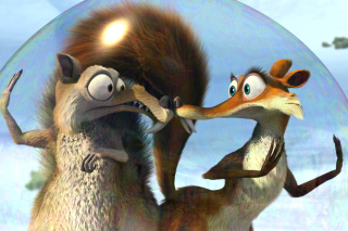 Ice Age Dawn of the Dinosaur Scrat And Scratte papel de parede para celular para Nokia XL