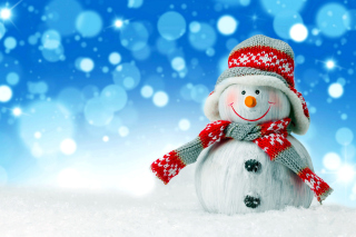 Christmas Snowman Festive Sign Wallpaper for Android, iPhone and iPad