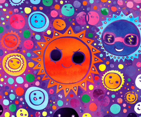 Funny Suns wallpaper 480x400