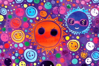 Funny Suns Background for Android, iPhone and iPad