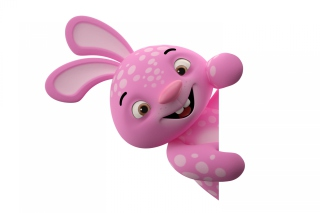 3D Pink Rabbit Wallpaper for Android, iPhone and iPad