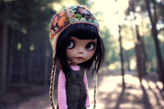 Doll Wearing Hat Wallpaper for Android, iPhone and iPad