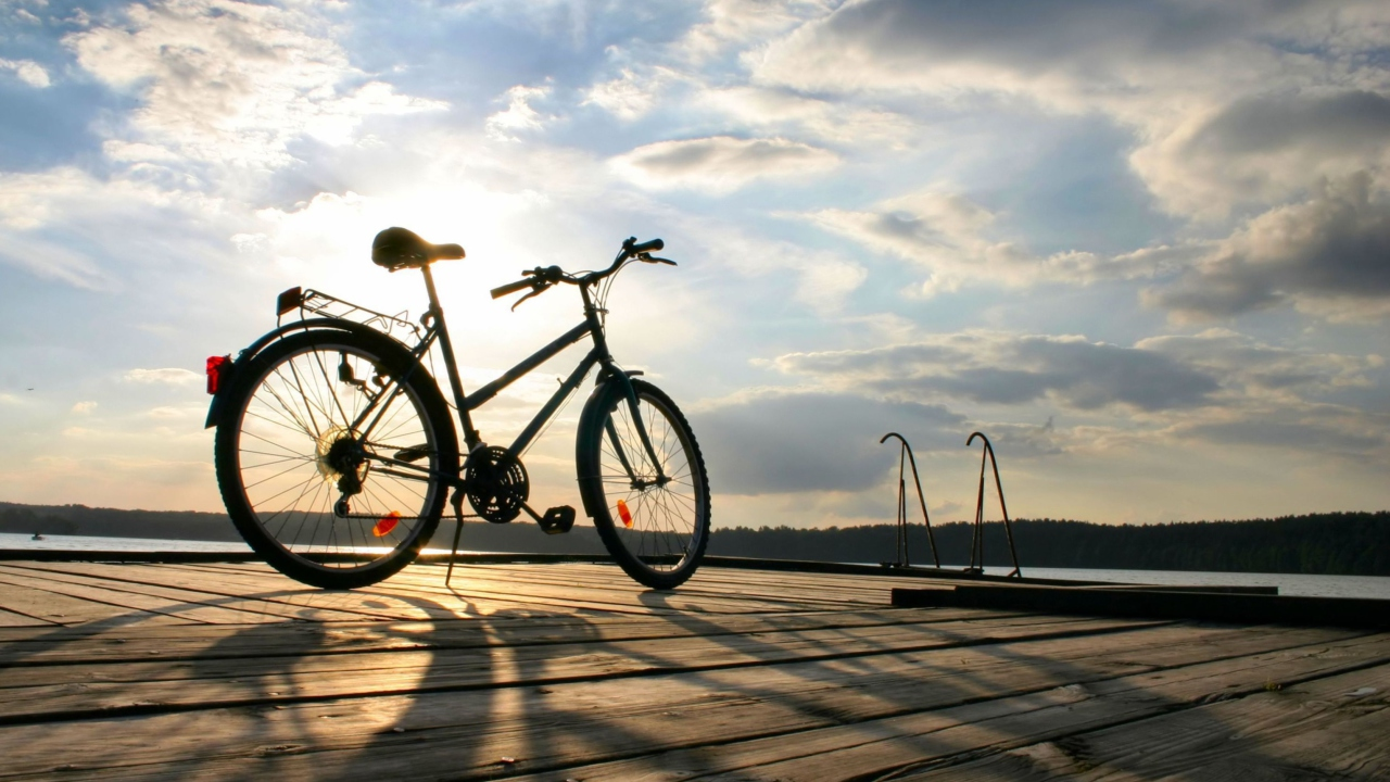 Bicycle At Sunny Day