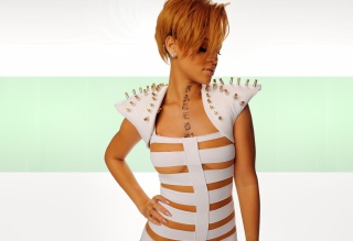 Hot Rihanna In White Top Wallpaper for Android, iPhone and iPad