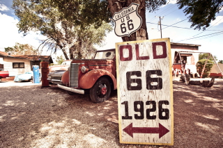Historic Route 66 Background for Android, iPhone and iPad