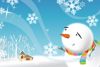 Free Cute Snowman Picture for Android, iPhone and iPad