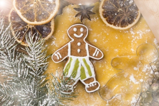 Xmas Gingerbread Background for Android, iPhone and iPad