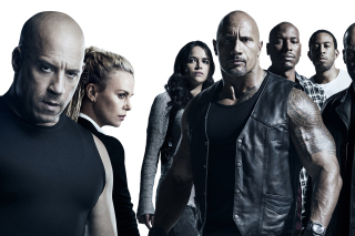 The Fate of the Furious Cast - Obrázkek zdarma pro Desktop Netbook 1366x768 HD