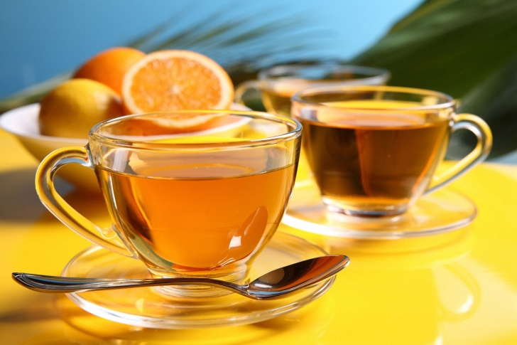Tea with honey wallpaper
