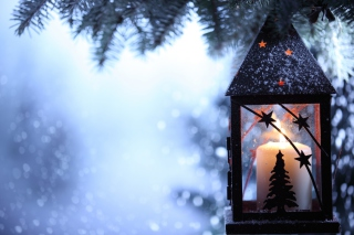 Christmas Lantern Wallpaper for Android, iPhone and iPad