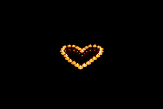 Candle Heart Wallpaper for Android, iPhone and iPad