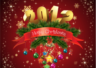New Year And Merry Christmas Background for Android, iPhone and iPad